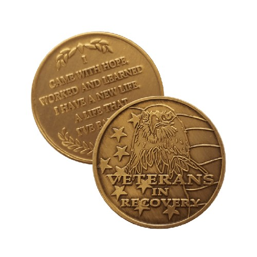 Veterans in Recovery Wendells Bronze Affirmation Medallions